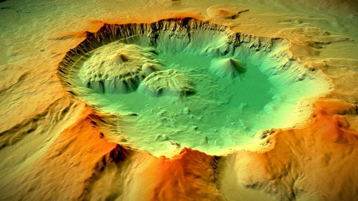 Crater Lake, Oregon 3D Model