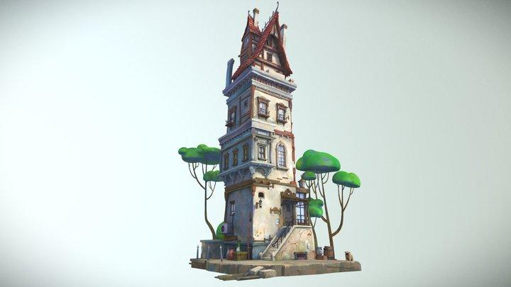 Tall House 3D Model