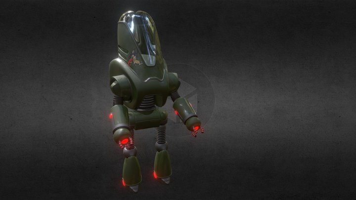 Protectron Man 3D Model