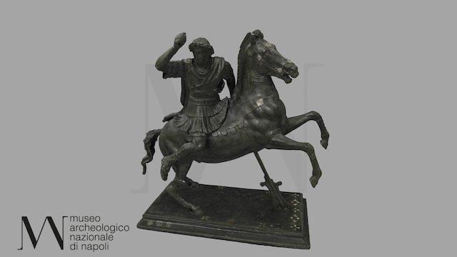 Alessandro a cavallo 4996 3D Model