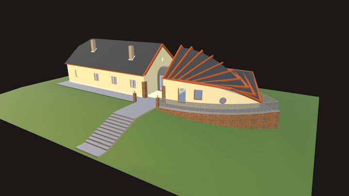 Liberland government building 3D Model