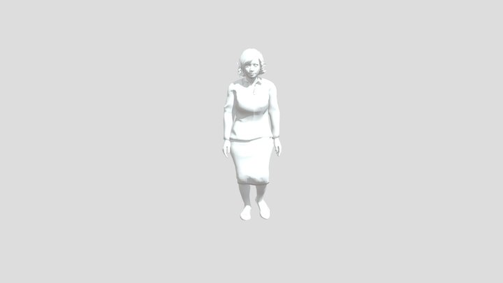 Walking Lady 3D Model