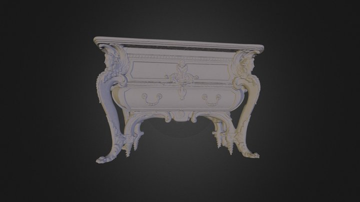 Commode Louis XIV Palace of Versailles 3D Model