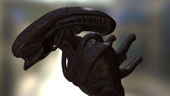 Alien Giger WIP 3D Model