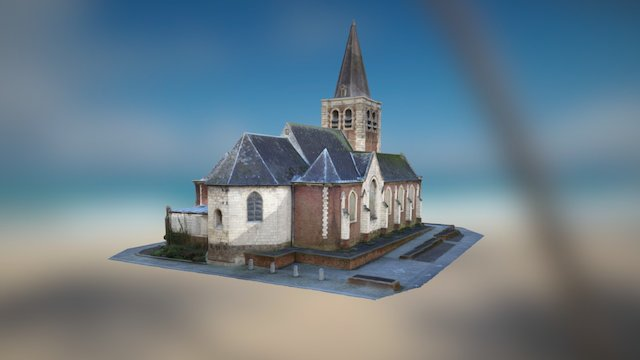 Église Anstaing 59152 France 3D Model