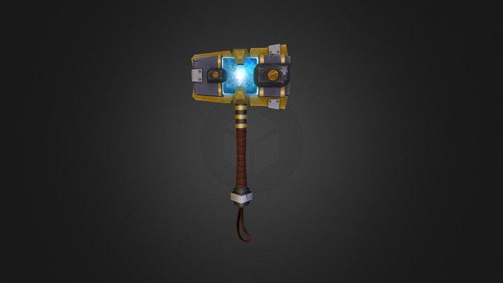 World of Warcraft Ulduar Celestial Hammer 3D Model