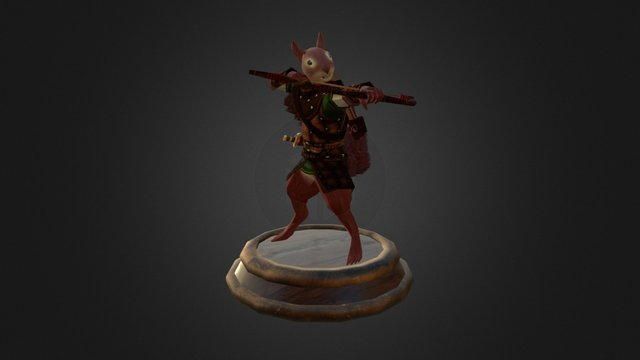 Squirrel Archer 3D Model
