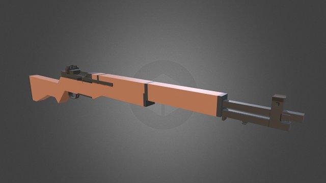 Minecraft - M1 Garand 3D Model