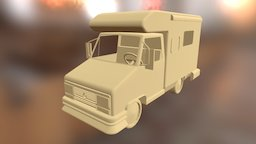 1990 Fiat Ducato Highwayman 3D Model