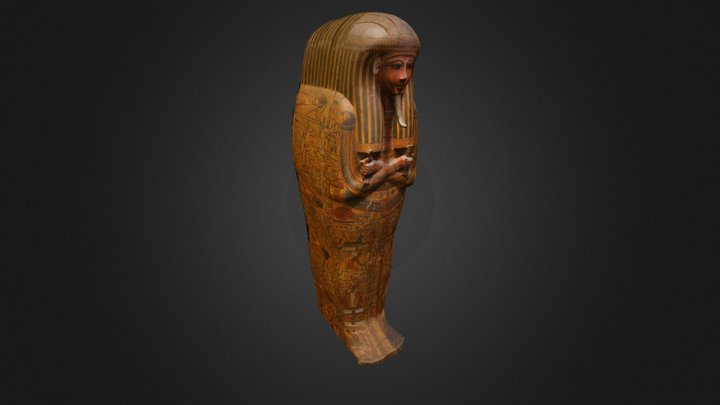 Outer Coffin of Khonsu 3D Model
