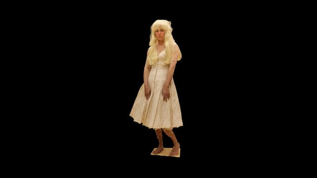 Actress 3D Scan - Theatre Piece - Faust to Go 3D Model