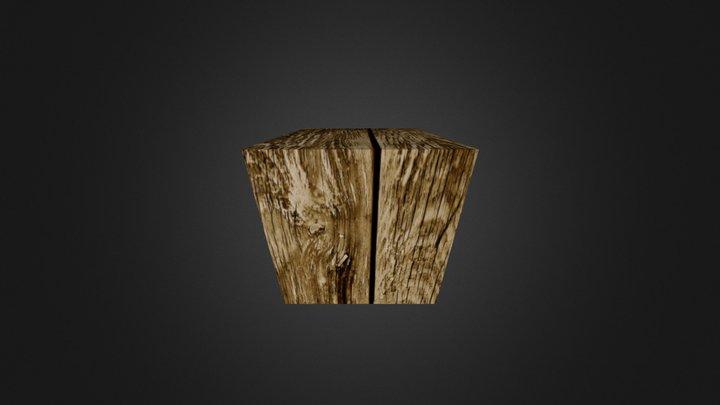 cubo madeira 3D Model