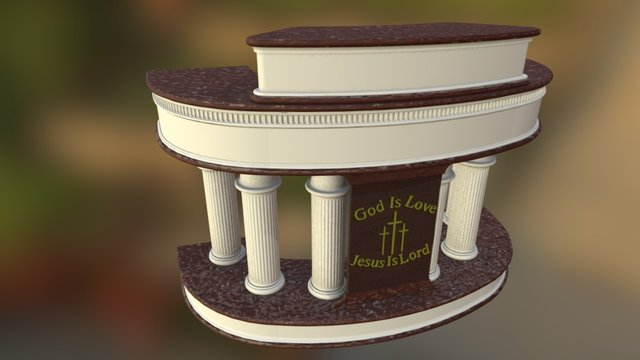 Macedonian Baptist Pulpit 3D Model