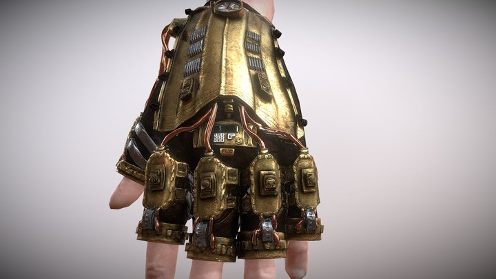 Steam Punk Glove 3D Model