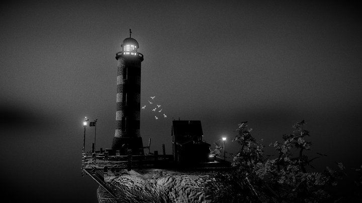 Lighthouse Diorama 3D Model