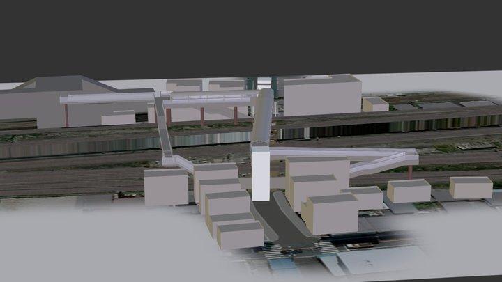 某踏切のイメージ-03 3D Model