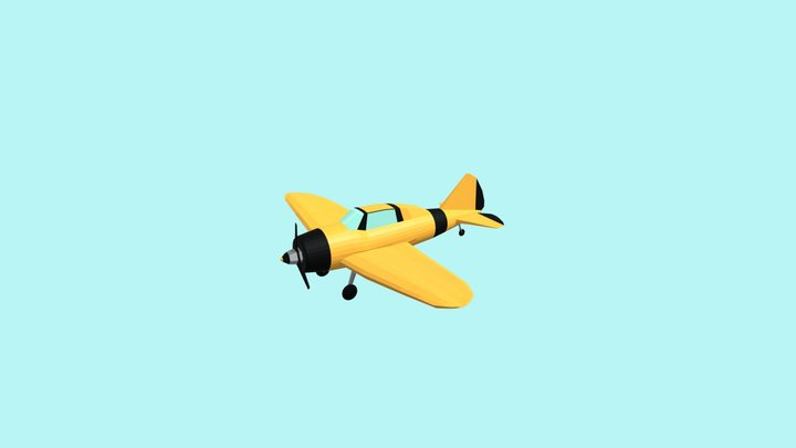 Low poly airplane - Reggiane Re 2000 3D Model