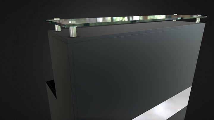 counter de atención 3D Model