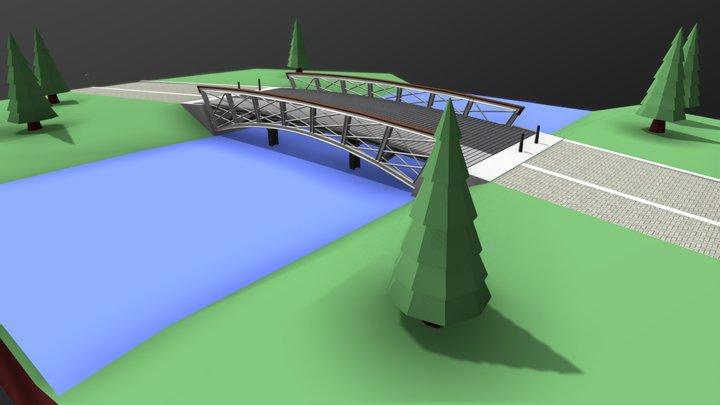 C.N.A. Looslaan bridge, Rotterdam 3D Model