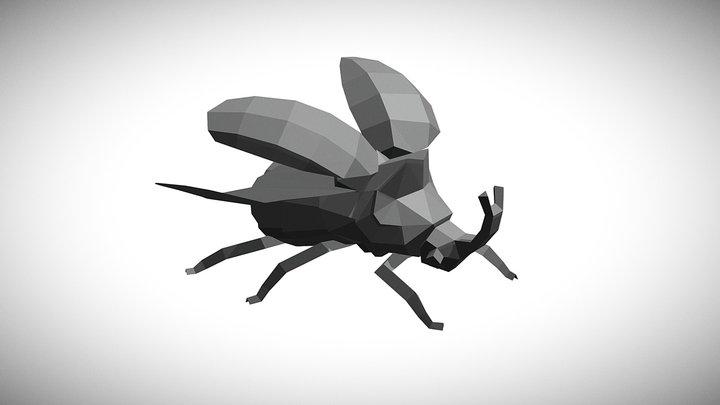 Lowpoly Beetle 3D Model