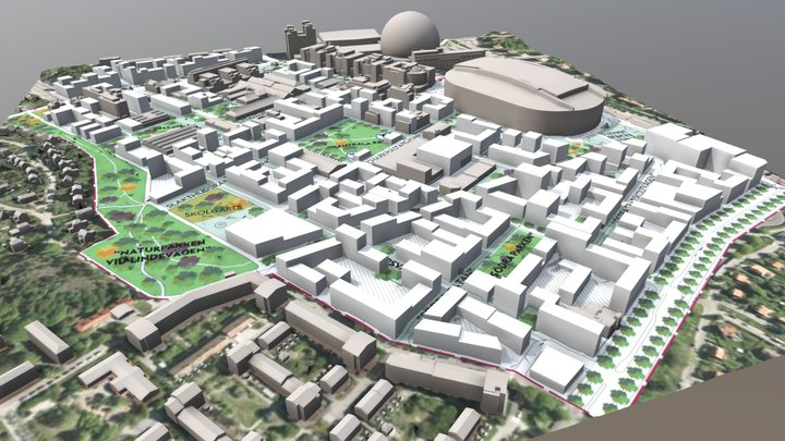 Slakthusområdet - The Meatpacking District 3D Model