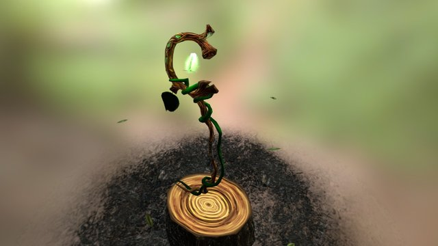 Woodwitch's Nature Staff (animated) 3D Model