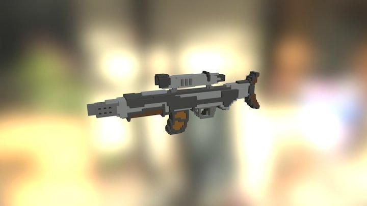 Rifle Gun #MagicaVoxel 3D Model