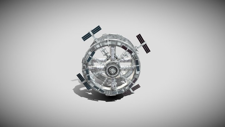 Stylised Space Station 3D Model