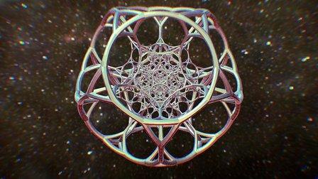 120 Cell 4D Geometry 3D Model