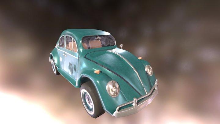 1963 Volkswagen Beetle Game Model 3D Model