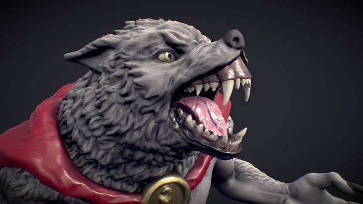 Lycaon   Werewolf Miniature for 3d printing. 3D Model