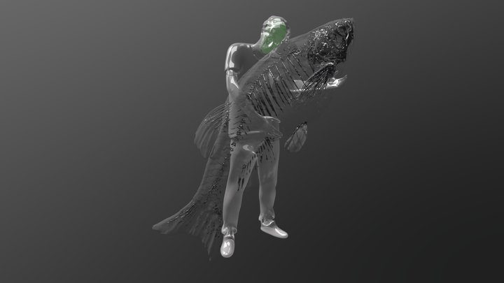 Sample and Hold: self portrait w/ model organism 3D Model