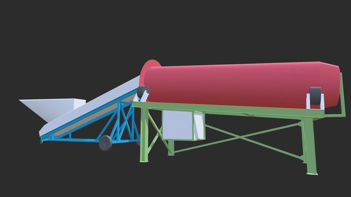 Colour Mulch Machine 3D Model