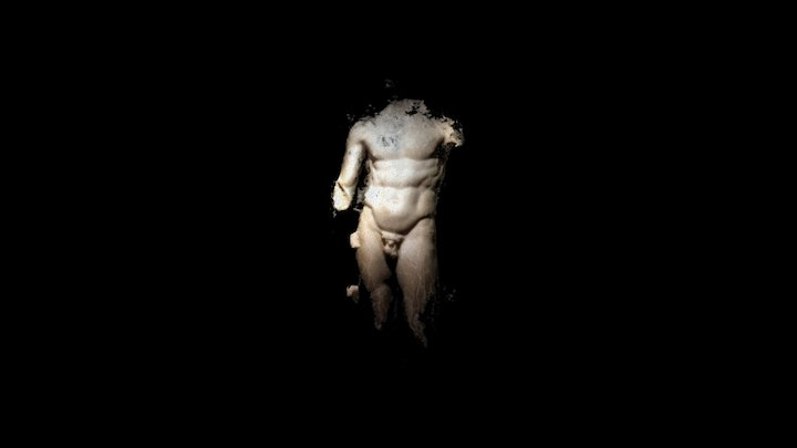 Torso of an athlete - Marble 3D Model