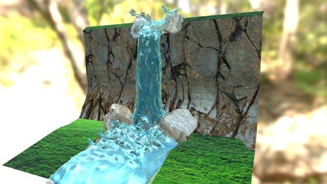 15 - Waterfall 3D Model