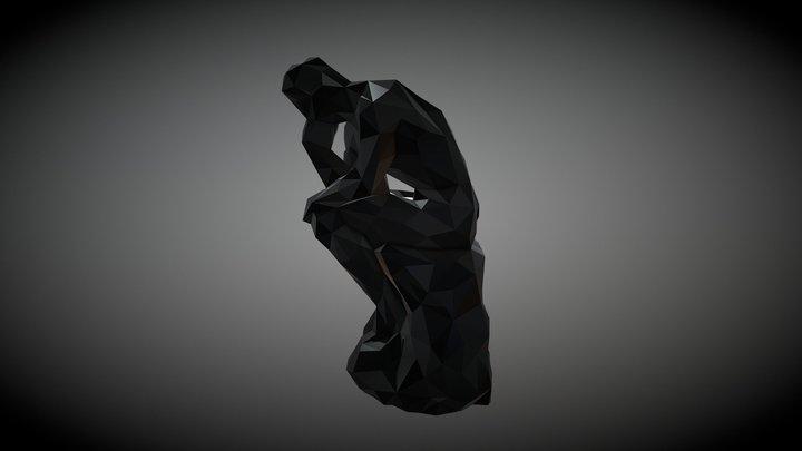 LP_The Thinker by Auguste Rodin 3D Model