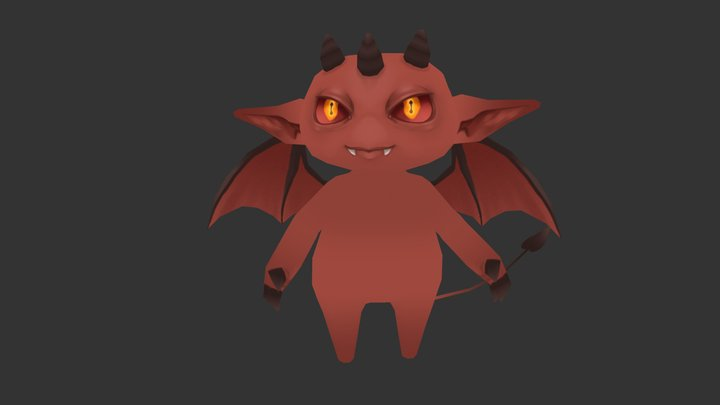 Tri horned Imp 3D Model