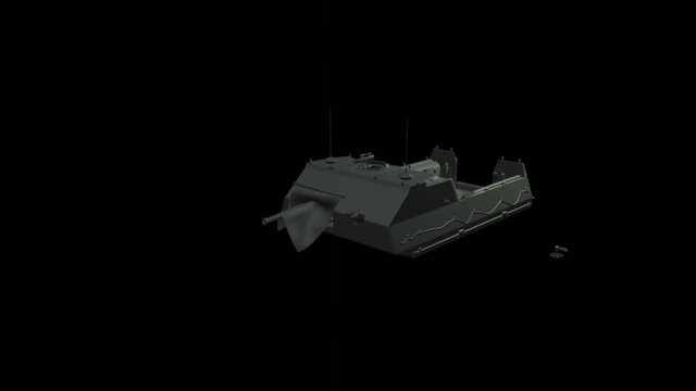 Sci-fi armored personell carrier 3D Model