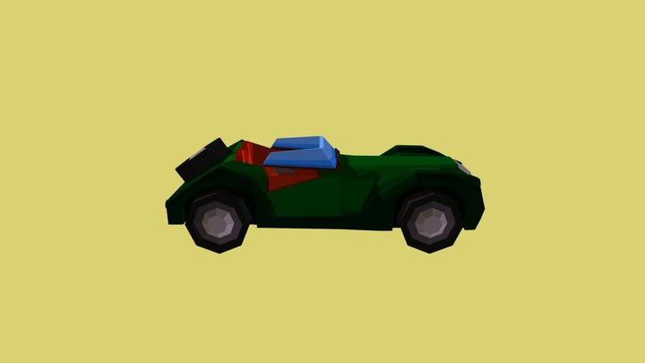 Low poly Green Morgan+8 3D Model