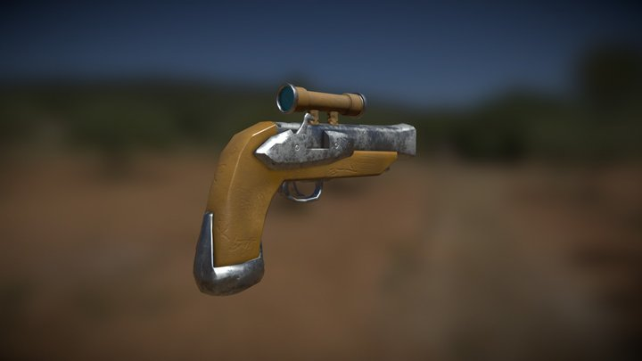 Sea of Thieves Style Pistol 3D Model