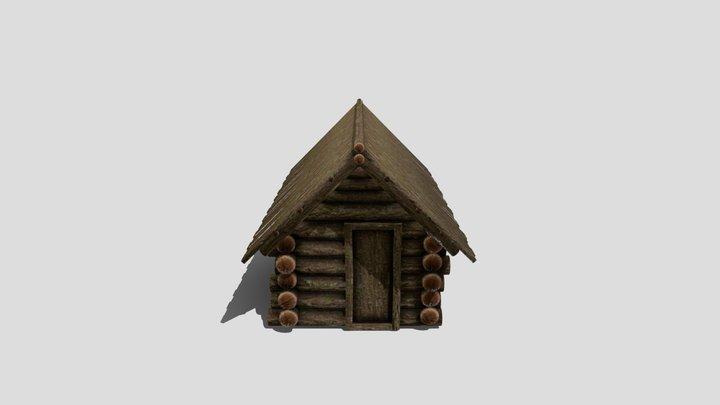 Medieval Log Cabin 3D Model