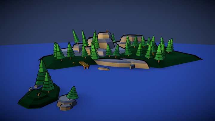 Poly Island 3D Model