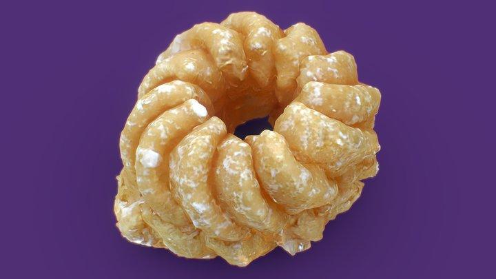 Cruller Donut 3D Model