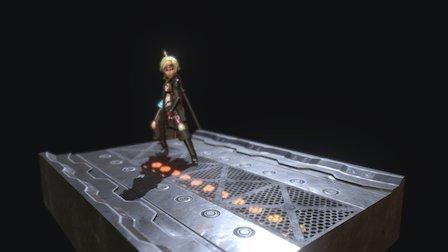 Pirate Captain Slash'n Shoot 3D Model