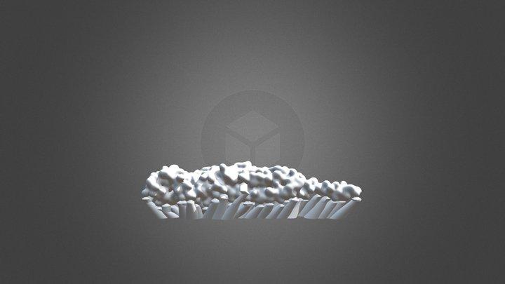 3D Print: Chain D, nAChR 3D Model