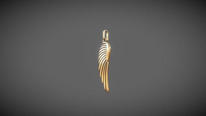angel wing jewelry 3D Model