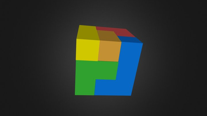 puzzlecube assembly 3D Model