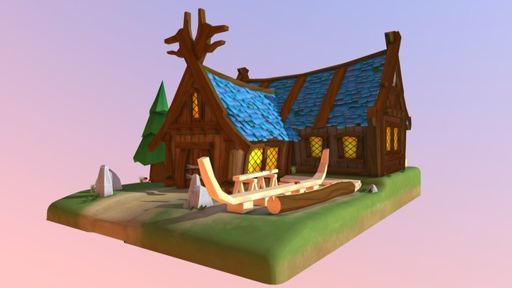 Viking Boat Workshop - Kuppens Cedric 1DAE13 3D Model