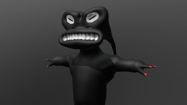 creepy N 3D Model