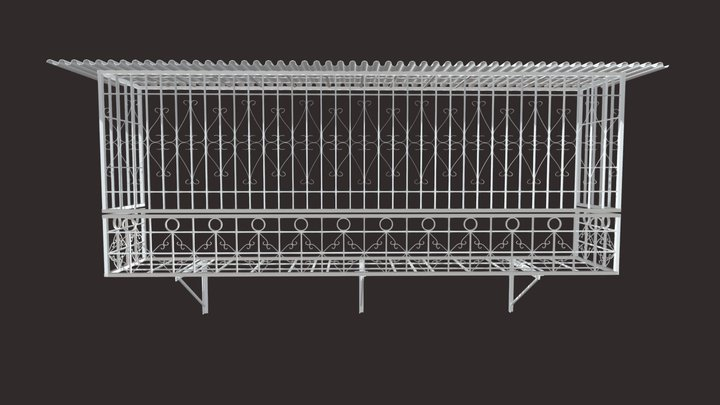 Iron Bar Window-10 3D Model
